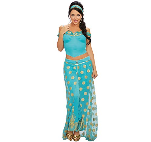 Dreamgirl Damen Kostüm Orient Arabische Prinzessin Jasmin 1001 Nacht Bauchtänzerin S, M, L (S)
