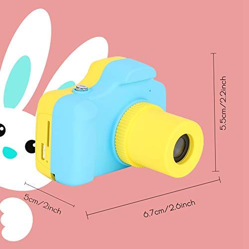 Cámara de Dibujos Animados Cámara Regalo Adecuado Batería de Litio Recargable de 1000 mAh para Que los niños la utilicen(Blue)