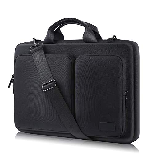 FANIS Laptop Bag 15.6 Inch, Waterproof & Shockproof Laptop Briefcase with Shoulder Straps & Handle, 360° Protection Notebook Case Compatible with 15.6 Inch MacBook Pro/Surface/Dell
