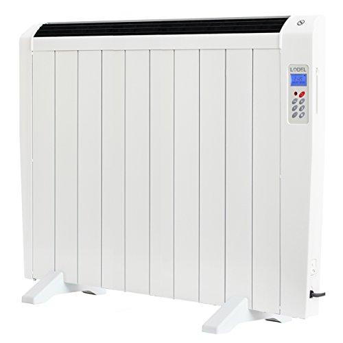 LODEL RA10 | Emisor Térmico Bajo Bajo Consumo | 1500W | 10 Elementos de Aluminio | 17 – 24m2 | Calentamiento Rápido | Programable | Mando a Distancia | 3 Modos | Incluye patas y soporte para pared.
