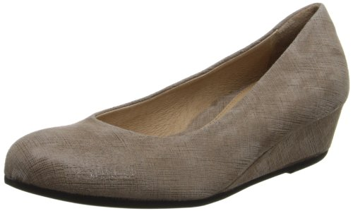 French Sole FS/NY Damen Gumdrop Wedge Pump, Beige (Taupe Cartizze), 39.5 EU