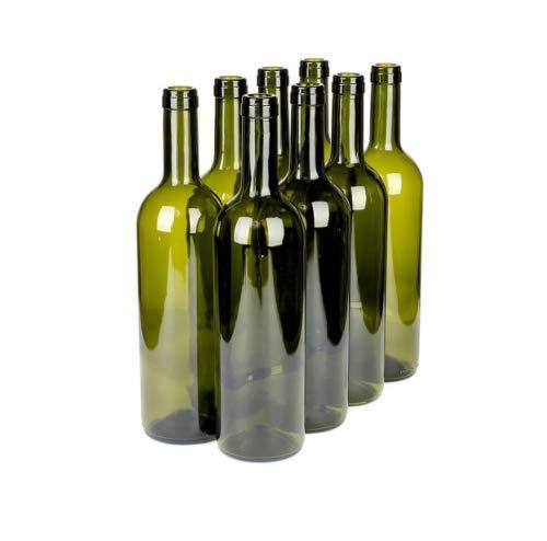 Beste Angebote 8 botellas de vino de 750 ml, botellas vacías para licor, vino, color verde oliva
