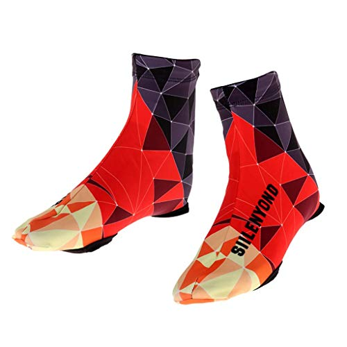 Copriscarpe da ciclismo in neoprene isolato impermeabile per mountain bike, mountain bike, bici e ciclismo, scarpette da sci arancione M