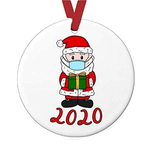 2020 Decorazione Natalizia Decora Il Natale Ciondolo Albero di Regalo di Natale DIY Craft Decorazioni Natalizia (A)