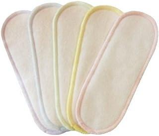 【アウトレット】 布ナプキン用 スリムパッド ライナー 16cm:ネルパステルカラー5枚セット