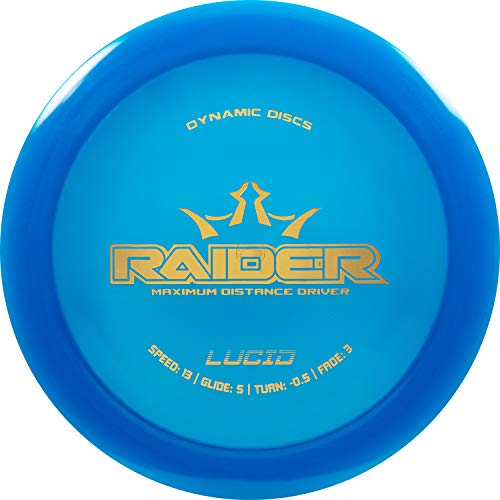 Dynamic Discs Lucid Raider Disc Golf Driver | 170g Plus | Maximum Distance Frisbee Golf Driver | Stamp Color Will Vary (Blue)