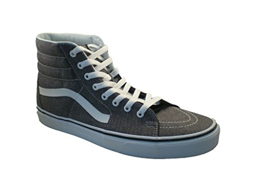 Vans SK8 Hi Micro Herringbone Black/True White Men's Skate Shoes Size 12