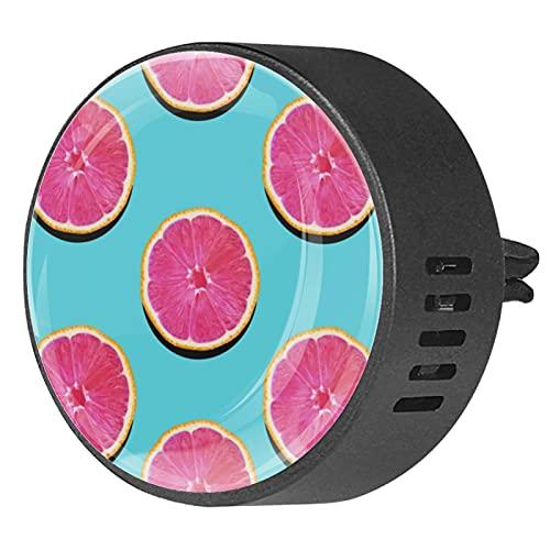 2 Packs Auto Diffuser Met Clip Luchtverfrissers, Roze pulp grapefruit op turquoise grapefruit, Aromatherapie Essentiële Olie Draagbaar voor slaapkamer