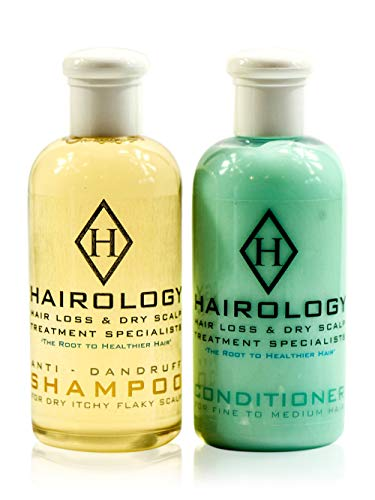 Hairology - Anti-Dandruff Shampoo and Conditioner for Dry Itchy Flaky Scalp - Dry Scalp Shampoo and Conditioner