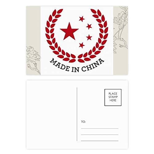 DIYthinker Made in China Stars Tarwe Rijst Rode Bloem Postkaart Set Thanks Card Mailing Side 20 stks 5.7 inch x 3.8 inch Multi kleuren