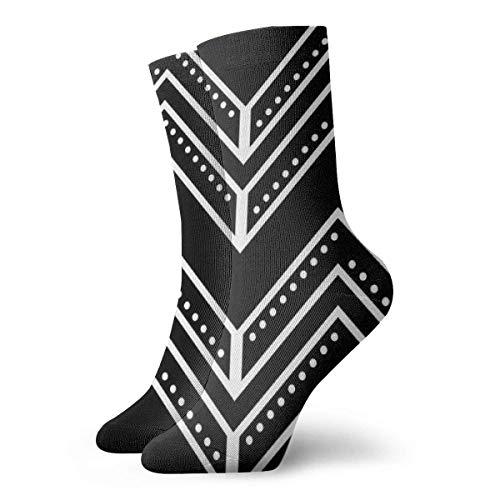 Black Arrow Dots Calcetines cortos para adultos Algodn Lindo Clsico Ocio Deporte Calcetines cortos Adecuado para hombres Mujeres Calcetines deportivos Calcetines cmodos transpirables Casuales 30cm