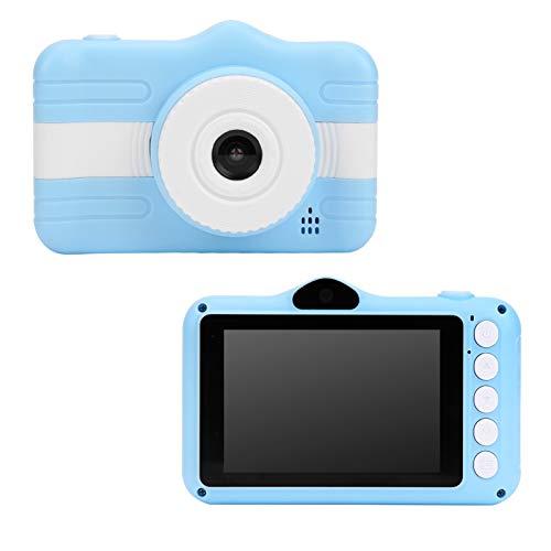Cámara para niños recargable, cámara digital de 2 pulgadas para niños con pantalla IPS HD en color, grabadora de video y cordón Diseño anticaída Juegos para niños integrados Niños niñas Regalos creati
