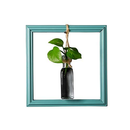LJXLXY Maceta Estilo nórdico Adorno Florero Creativo Planta Verde Colgante de Pared Hidropónico Florero Macetas de Interior (Size : B)