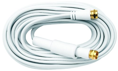 Axing SFK 250-02 Sat-Flachkabel Koax Flachbandkabel, 2,50 m weiß