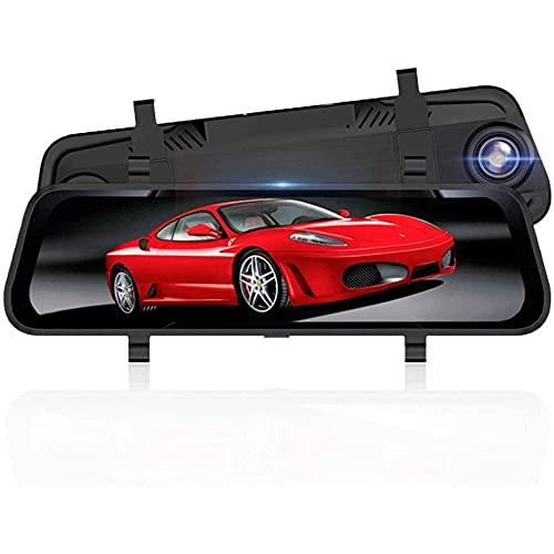 XIXIDIAN Grabadora de conducción, control de voz de pantalla completa de 10 pulgadas de pantalla de visión nocturna de ultra alta de alta definición, cámara de imagen de reversión 1296P, con protecció