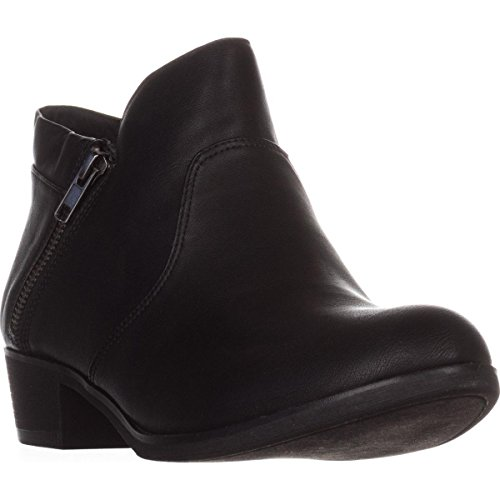 Price comparison product image American Rag Womens Abby Almond Toe Ankle Fashion Boots,  Black Smooth,  Size 8.5