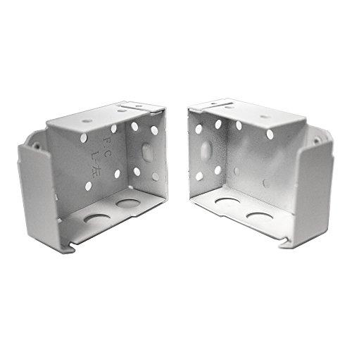 Low Profile Box Mounting Bracket Set for Window Blinds - White