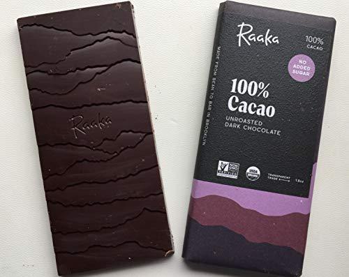 Raakaオーガニック カカオ100% ローチョコレート 無焙煎カカオ