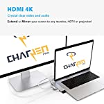 "CharJenPro USB C Hub for MacBook Pro 16"", 15"", 13"", 2020, 2019, 2018, MacBook Air 2020, 2019, 2018, 100W Power, HDMI 4K, 2 USB 3.0, microSD, SD Card Reader, USB C Port. USBC Adapter. 12 PREMIUM: Only for Apple MacBook Air 2018 - 2019, MacBook Pro 2016 - 2019. Compact HIGH-GRADE Aluminum body. Only versatile all in one you need. THUNDERBOLT 3 PORT (top USBC port): Charges laptop up to 100W. 5K@60Hz video output for Ultra HD. Transfers data up to 40Gbps. The 2nd USB C port is for DATA ONLY transfer up to 5Gbps. FAST PORTS: 2 USB 3.0 and 1 USB C port for external hard drives, flash/thumb drives, phones, tablets, printers, scanners, all USB devices. Speeds up to 5Gbps."