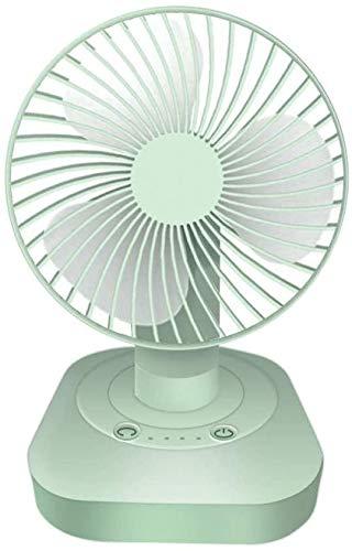 ZZXXB 180-Grad-Kopfschütteln Lüfter Desktop-Heimlade USB-Kleiner Ventilator stumm Mini-Windkraft Fan-Ivory White_USB Kleiner Ventilator Judith (Color : Fresh Green)