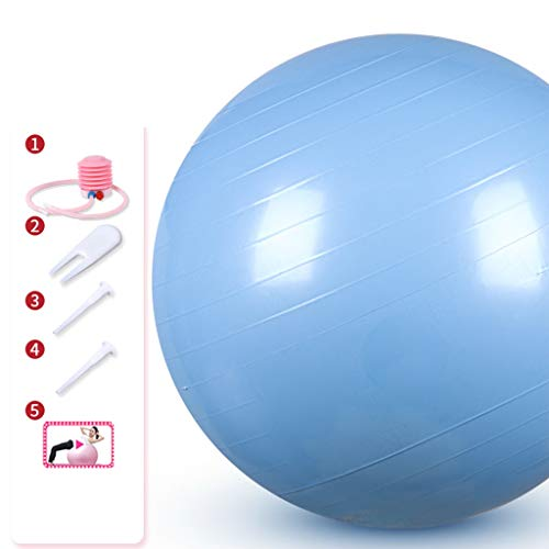 Xian Jian-Gymnastikball Yoga-Übung Soft-Ball - Pilatus-Kugel-Yoga-Kugel for Kraft, Ausdauer, Konzentration Anti-Burst-Übung Schweizerer Kugel mit Pumpe (Farbe : Blau, Größe : Diameter 75cm)