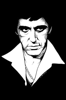 makeuseof A157 Al Pacino tony - Scarface & Godfather movie posters Art Wall Pictures for Living Room in Canvas fabric cloth Print