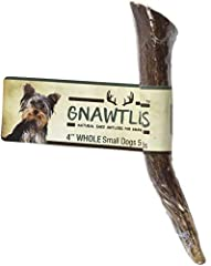 "USA ELK ANTLERS FOR DOGS SMALL is sized for Dogs 5-20lbs, such as a Yorkshire Terrier, Dachshunds, and Shih Tzus. The length of the Small Gnawtler elk antlers is 4"". The small dog bone is a good choice for dog toys for aggressive chewers for the litt..."