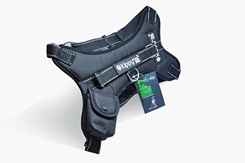 Kippy - Premium Hundehalsband für Mittelgroße und Große Rassen - Verstellbar, Wasserfest & Waschbar für Langanhaltenden Komfort - Beinhaltet eine Tasche Vita S Hunde GPS - L