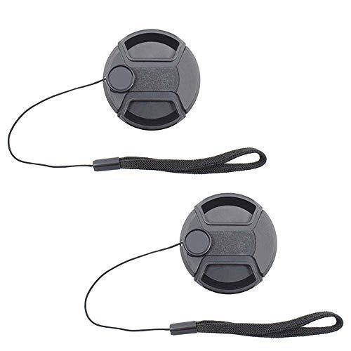 ULBTER 72mm Tappo Coprilente Copriobiettivo Anteriore Coperchio con custode per Obiettivo Sony E PZ 18-105mm F4 G OSS per fotocamere digitali Sony Alpha a6500 a6400 a6300 a6000 a5100 a5000-2 pezzi
