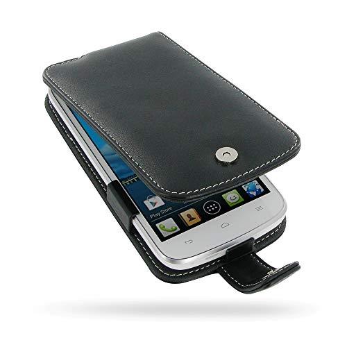 PDair Handarbeit Leder Hülle - Leather Flip Case for Huawei Ascend Y600
