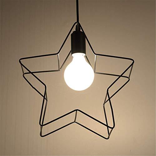 Hai Ying * Pentagram modern minimalistisch Cafe bar loper restaurant creatief unieke kop zwart geometrie E27 plafondlamp 300 x 100 mm