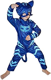 IE PJ Masks Catboy Costume, Deluxe Kids Light Up Jumpsuit Outfit and Character Mask, Toddler Size Medium (XS (3-4 years ol...