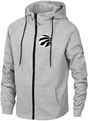 Sudadera unisex, La camiseta de Toronto Raptors Formación de manga larga con capucha de baloncesto Deportes de la chaqueta de los hombres de la rebeca del suéter gris-L ( Color : Grey , Size : Small )