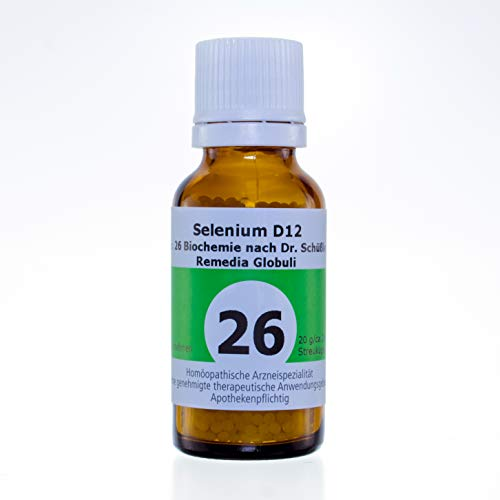 Schüßlersalze Globuli Remedia Selenium D12 Nr.26