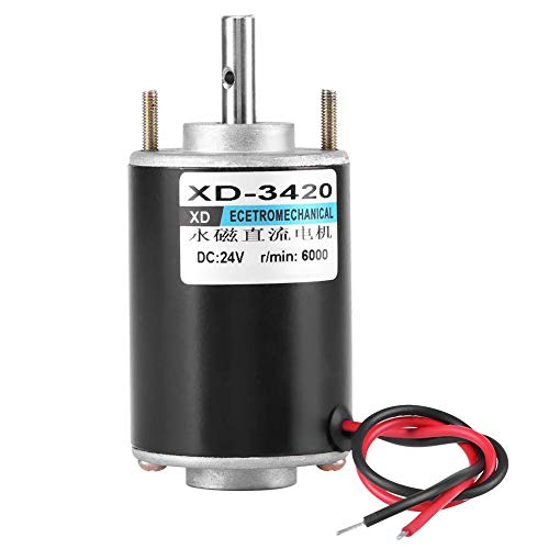 12V 3000RPM High Torque DC Motor Permanent Magnet Motor High Speed Motor CW/CCW (24V DC 6000RPM)