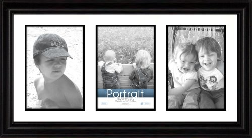 Timeless Frames 10x20 Inch Fits Three 5x7 Inch Photos Lauren Collage Frame, Black