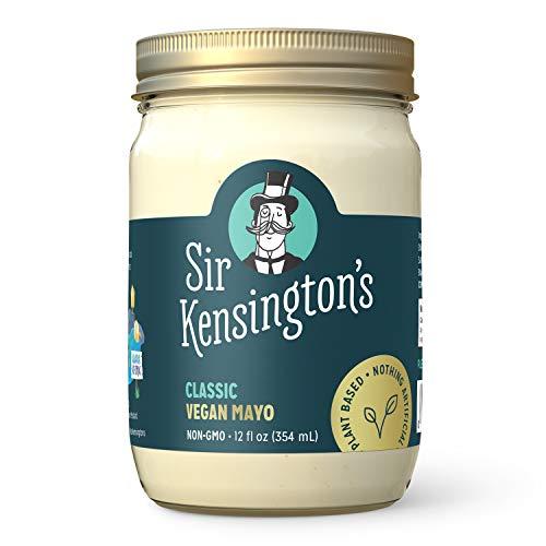 Sir Kensington's Vegan Mayo, Classic, Keto Diet Certified, Gluten Free, Certified Vegan, Soy Free, Non- GMO Project Verified, Shelf-Stable, 12 oz