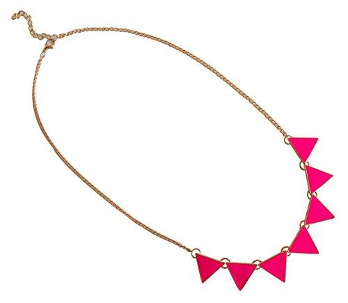 Collana per donna Statement Accessorio per feste Monile per Party Accessorio di moda colore rosa marchio MyBeautyworld24