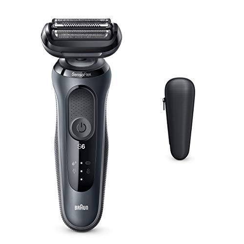 Braun Series 6 60-N1000s Afeitadora Eléctrica Hombre De Lámina, Uso En Seco Y Mojado, Recargable, Inalámbrica, Gris