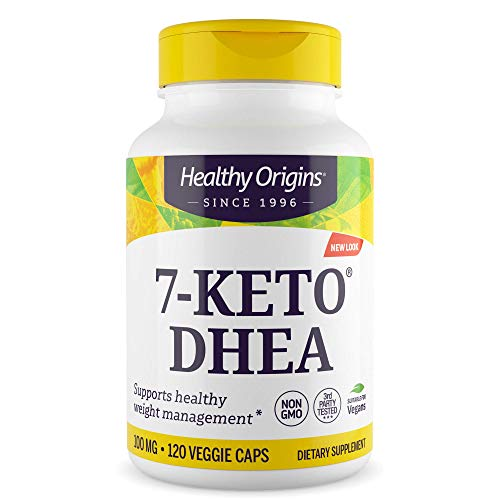 Healthy Origins 7-KETO Vegetarian Capsules, 100 mg, 120 Count