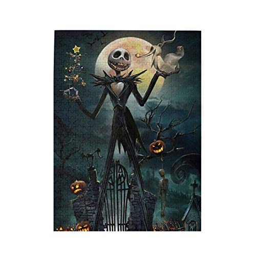 Duwamesva Nightmare Before Christmas Puzzles Leisure 500 Piece Jigsaw Puzzles Wooden Games Artwork for Teens and Family