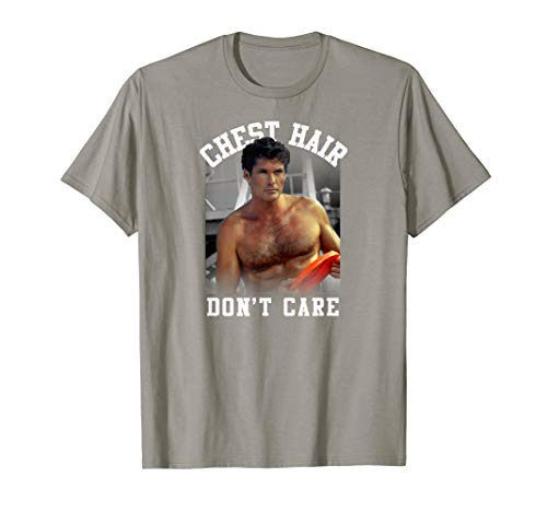 Baywatch Funny Chest Hair Don't Care Mitch T-Shirt for Adults and Youth