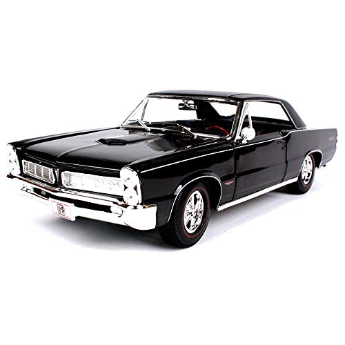 NBVCX Building Accessories 1965 Pontiac GTO Car Model 1:18 Static Simulation Alloy Car Die-Casting Car Model Door and Hood Can Be Opened the Best Gift Collection