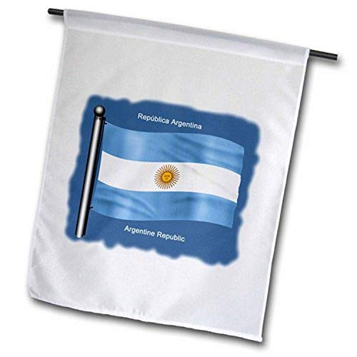 3drose3drose Fl 51740 1 Argentina Flag Waving On Flagpole On Blue Background Garden Flag 12 By 18 Dailymail