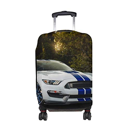 Gt350 Car Pattern Print Travel Luggage Protector Baggage Suitcase Cover Fits 18-21 Inch Luggage
