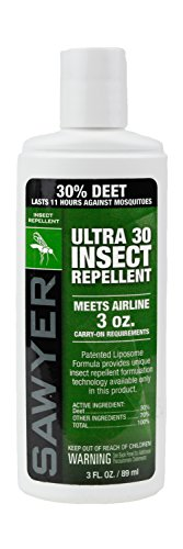 Sawyer Products SP533 Premium Ultra 30% DEET Insect Repellent in Liposome Base Lotion, 3-Ounce