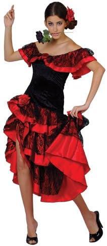 SPANISH Sales SENORITA Price reduction SALSA FANCY Sizes DRESS COSTUME All