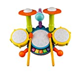 Rabing Kids Drum Set, Electric Musical Instruments Toys with 2 Drum...