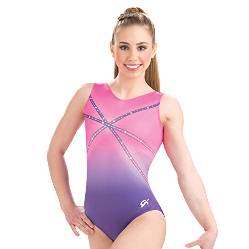 GK Glitz & Glam Gymnastics Leotard for Girls Dance One Piece (AL, Pink Purple)