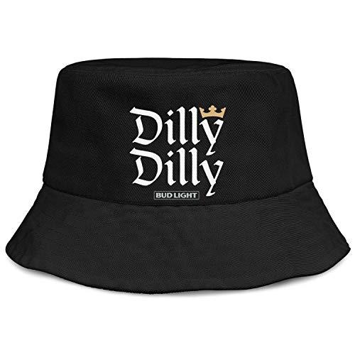 jdadaw Bud-Light-Beer-Dilly-Dilly- Unisex Bucket Hats Gardening Cap Black